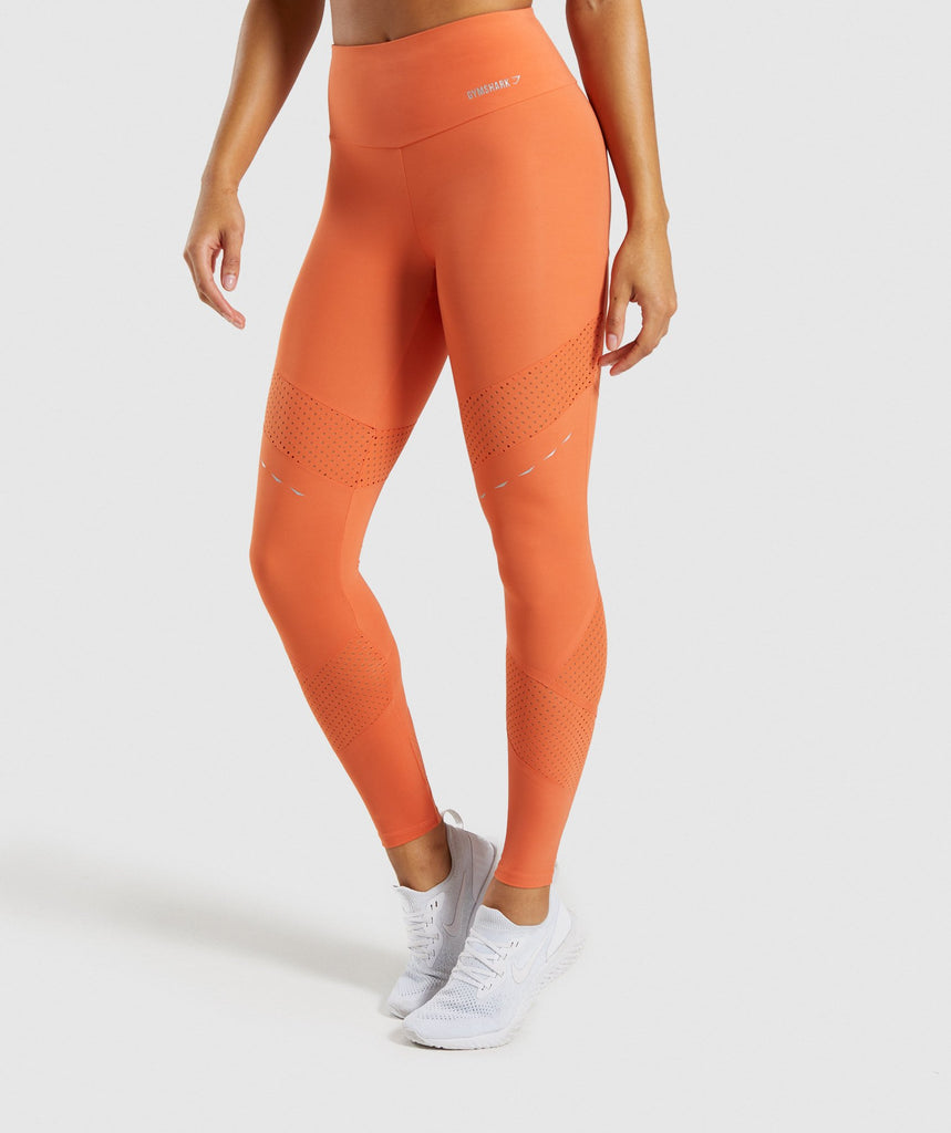 Gymshark Pro Perform Leggings - Burnt Orange 1