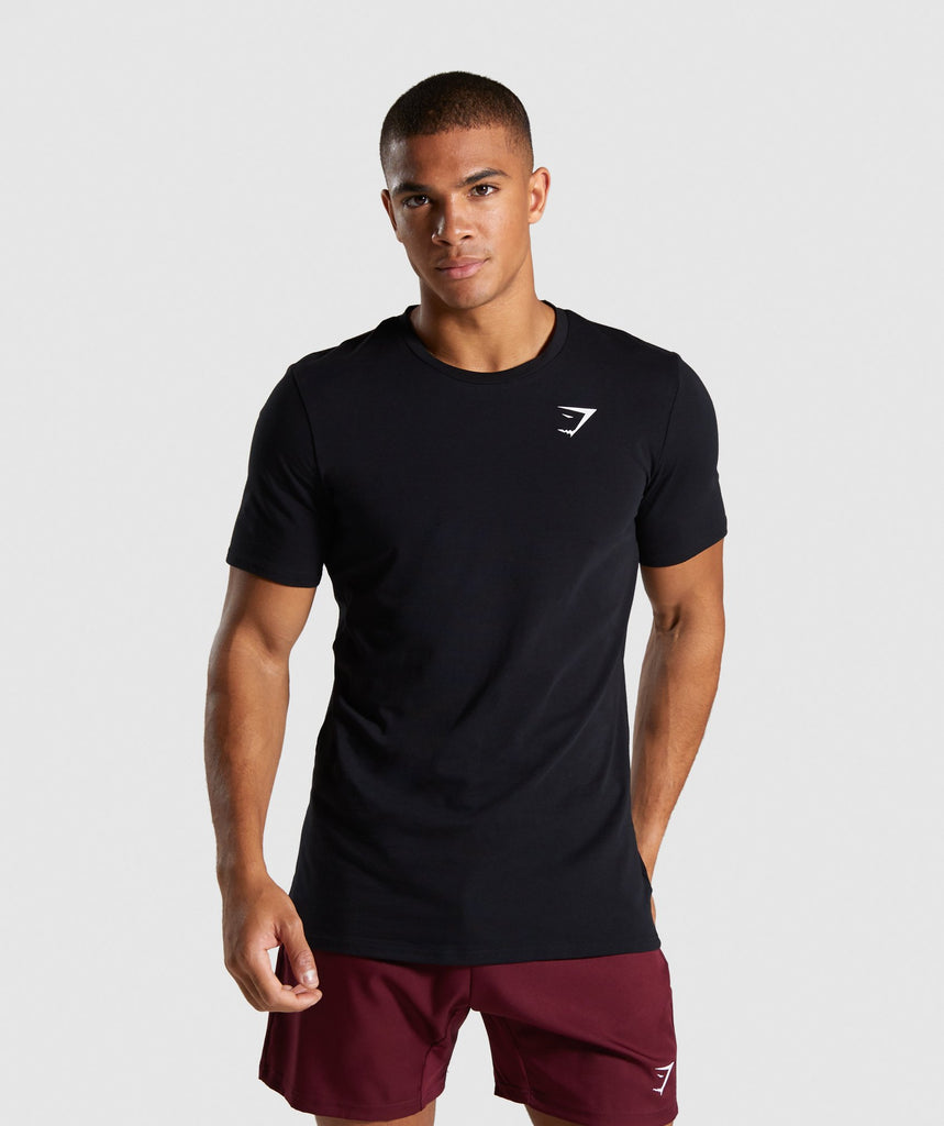 Gymshark Quote T-Shirt - Black 1