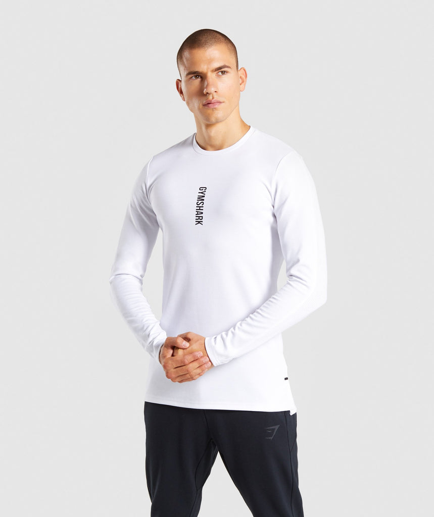Gymshark Raid Long Sleeve T-Shirt - White 1