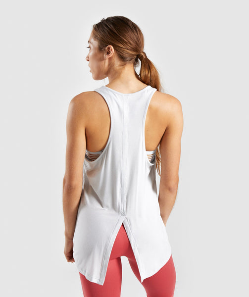 Gymshark Relaxed Graphic Vest - Light Grey 1