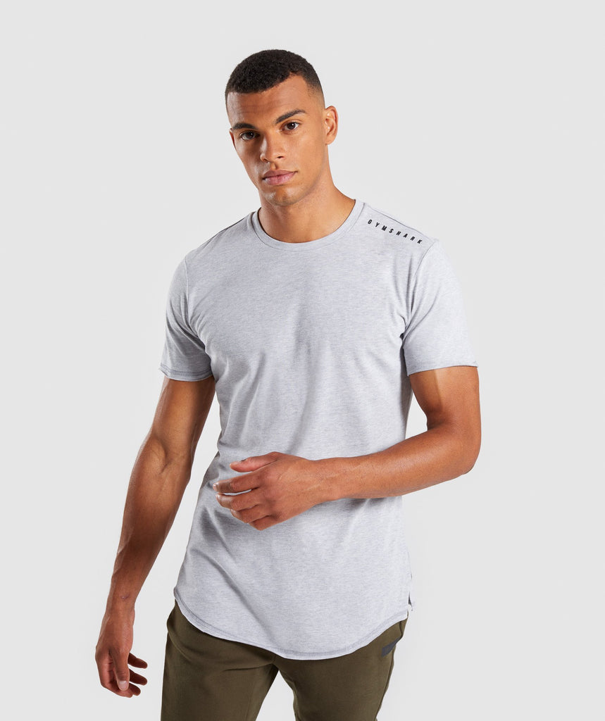 Gymshark Raised Logo T-Shirt - Light Grey Marl 1