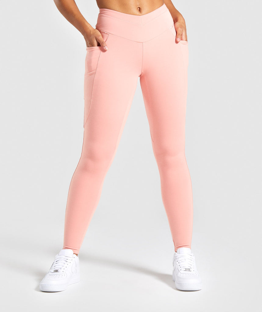 Gymshark Recess Leggings - Peach 1