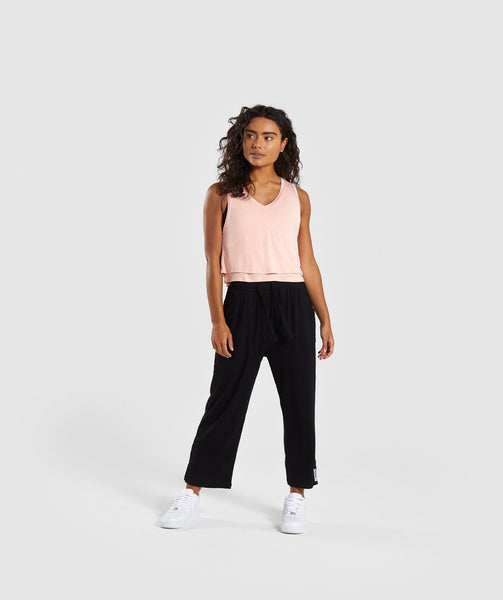 Gymshark Relaxed Crop Top - Washed Peach 3
