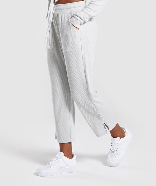 Gymshark Relaxed Joggers - Light Grey 1