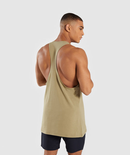 Gymshark Reverse Stringer - Light Khaki 1
