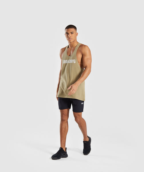 Gymshark Reverse Stringer - Light Khaki 3