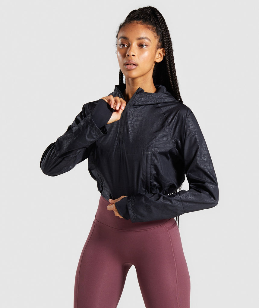 Gymshark Speed 1/4 Zip Jacket - Black 1