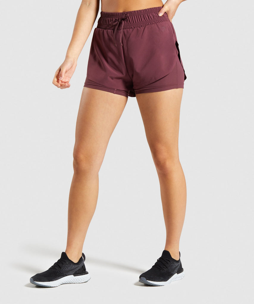 Gymshark Speed Shorts - Berry Red 1