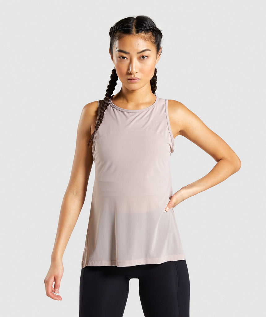 Gymshark Speed Tank - Taupe 1
