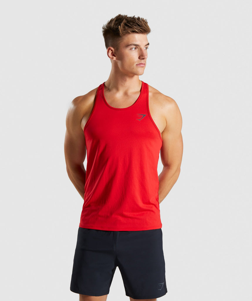 Gymshark Speed Tank - Red 1