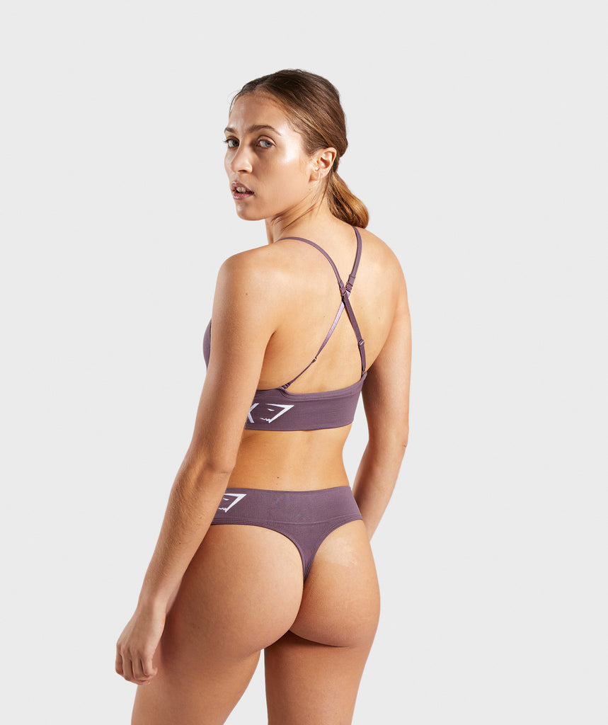 Gymshark Seamless Bralette - Purple Wash 2