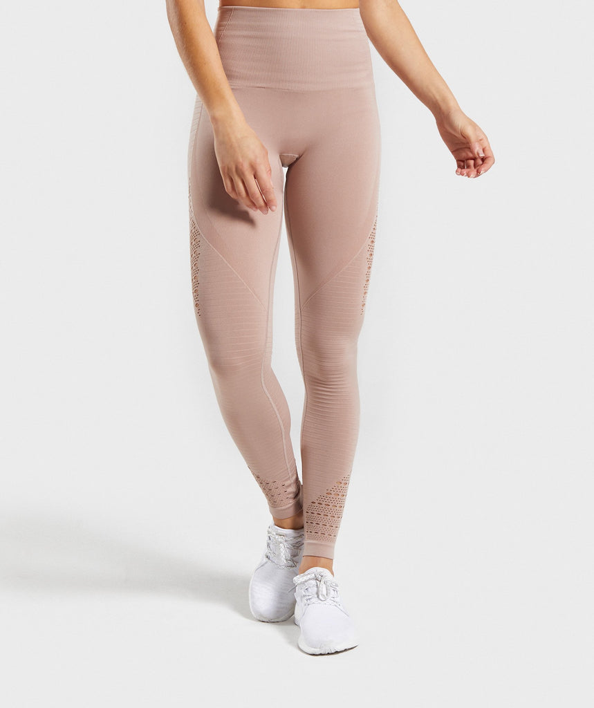 Gymshark Energy Seamless High Waisted Leggings - Taupe 1