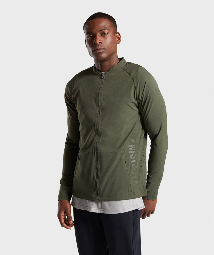 Gymshark Shadow Bomber Jacket - Dark Green 1