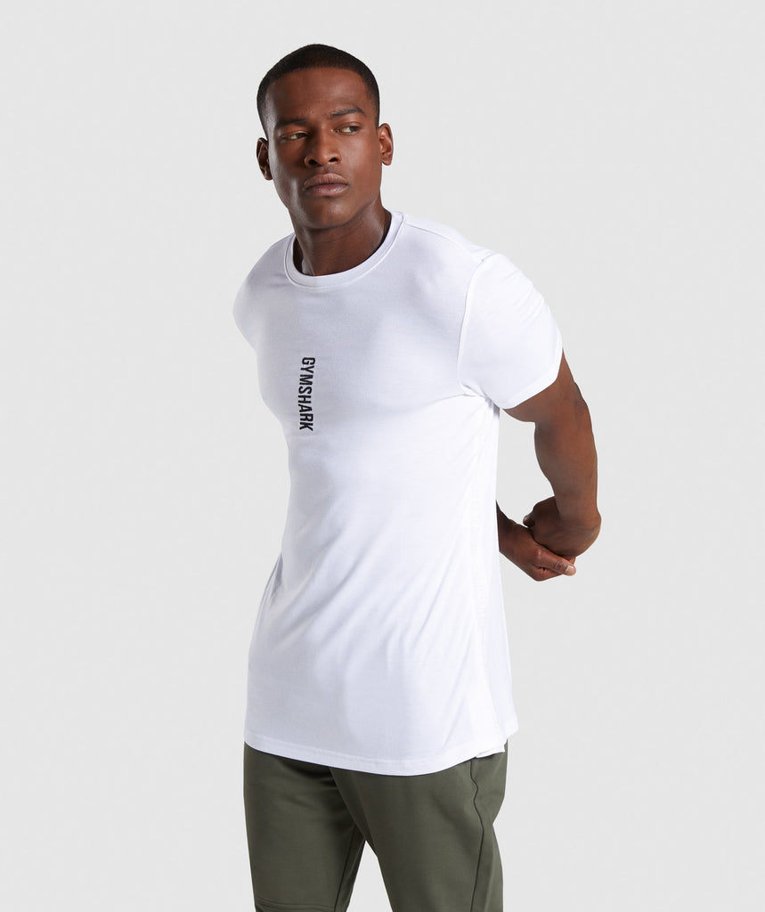 Gymshark Shadow T-Shirt - White 1