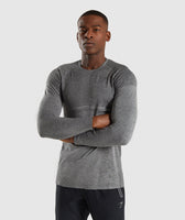 Gymshark Shadow X Seamless Long Sleeve T-Shirt - Charcoal Marl 7