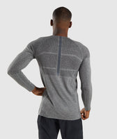 Gymshark Shadow X Seamless Long Sleeve T-Shirt - Charcoal Marl 8
