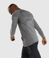 Gymshark Shadow X Seamless Long Sleeve T-Shirt - Charcoal Marl 9