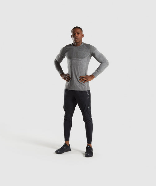 Gymshark Shadow X Seamless Long Sleeve T-Shirt - Charcoal Marl 3