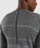 Gymshark Shadow X Seamless Long Sleeve T-Shirt - Charcoal Marl 11
