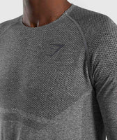 Gymshark Shadow X Seamless Long Sleeve T-Shirt - Charcoal Marl 12