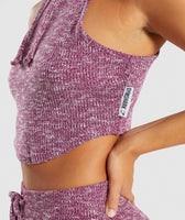 Gymshark Slounge Crop Top - Deep Plum Marl 12