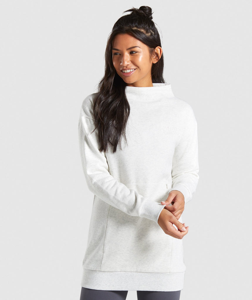 Gymshark So Soft Sweater - White Marl 1