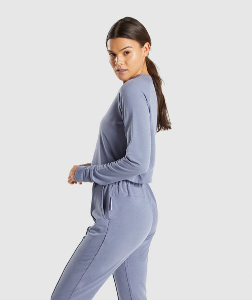 Gymshark Solace Sweater 2.0 - Steel Blue 2