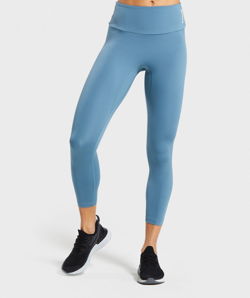 Gymshark Training 7/8 Leggings - Blue 1