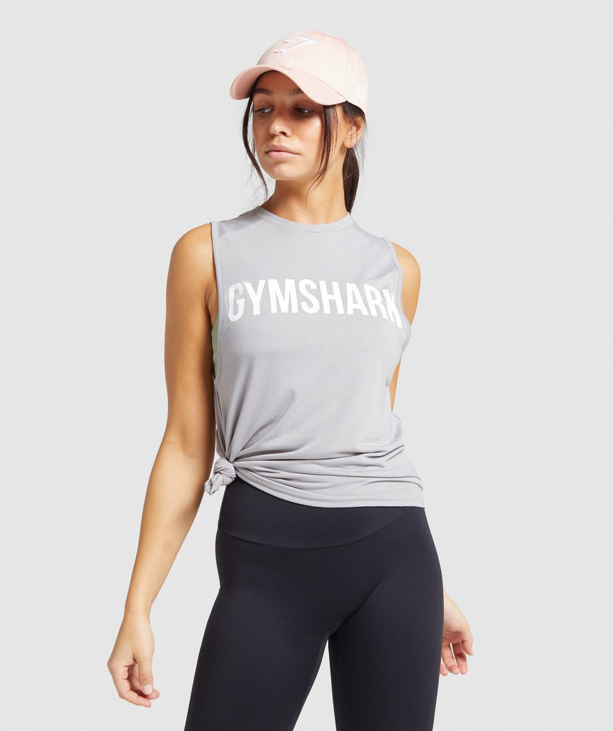 Gymshark Training Oversized Tank - Light Grey 1