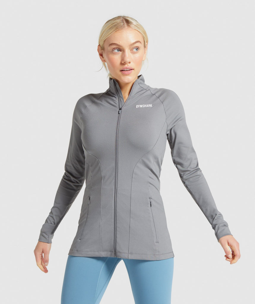 Gymshark Training Zip Up Jacket - Smokey Grey 1