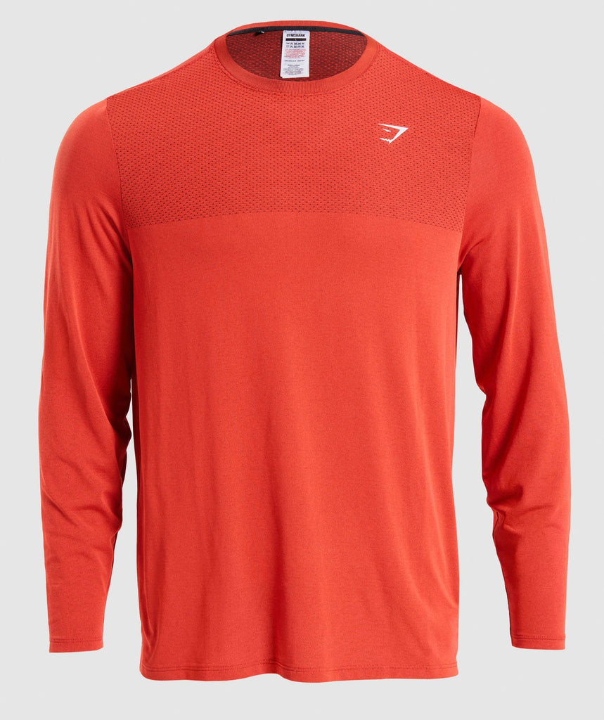 Gymshark Vital Long Sleeve T-Shirt - Red 1