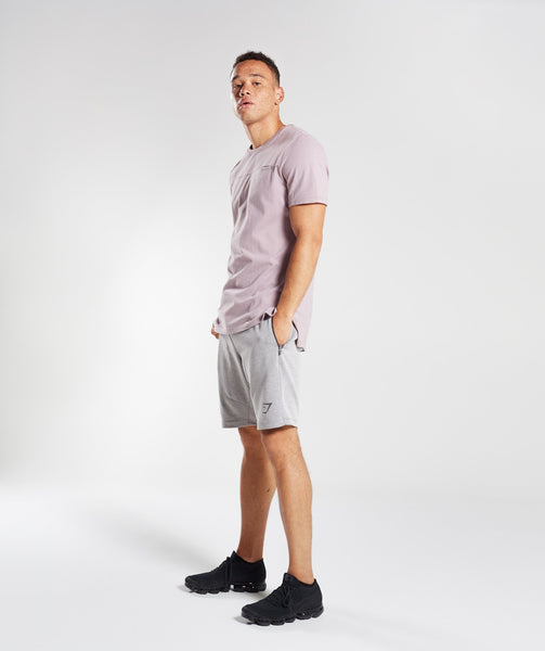 Gymshark Take Over Shorts - Light Grey Marl 4