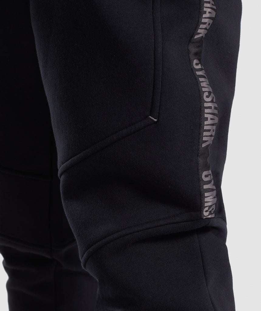 Gymshark Taped Joggers - Black 6