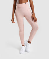 Gymshark Time Out Knit Joggers - Blush Nude 7