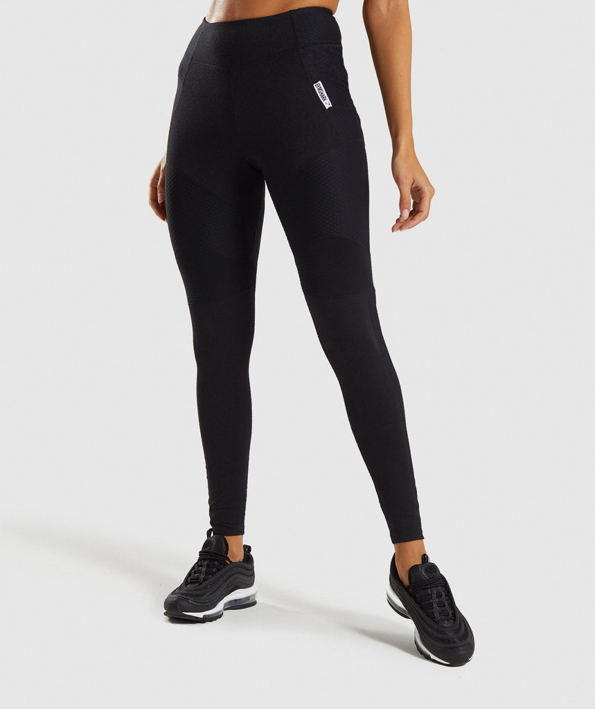 Gymshark True Texture Leggings - Black 1
