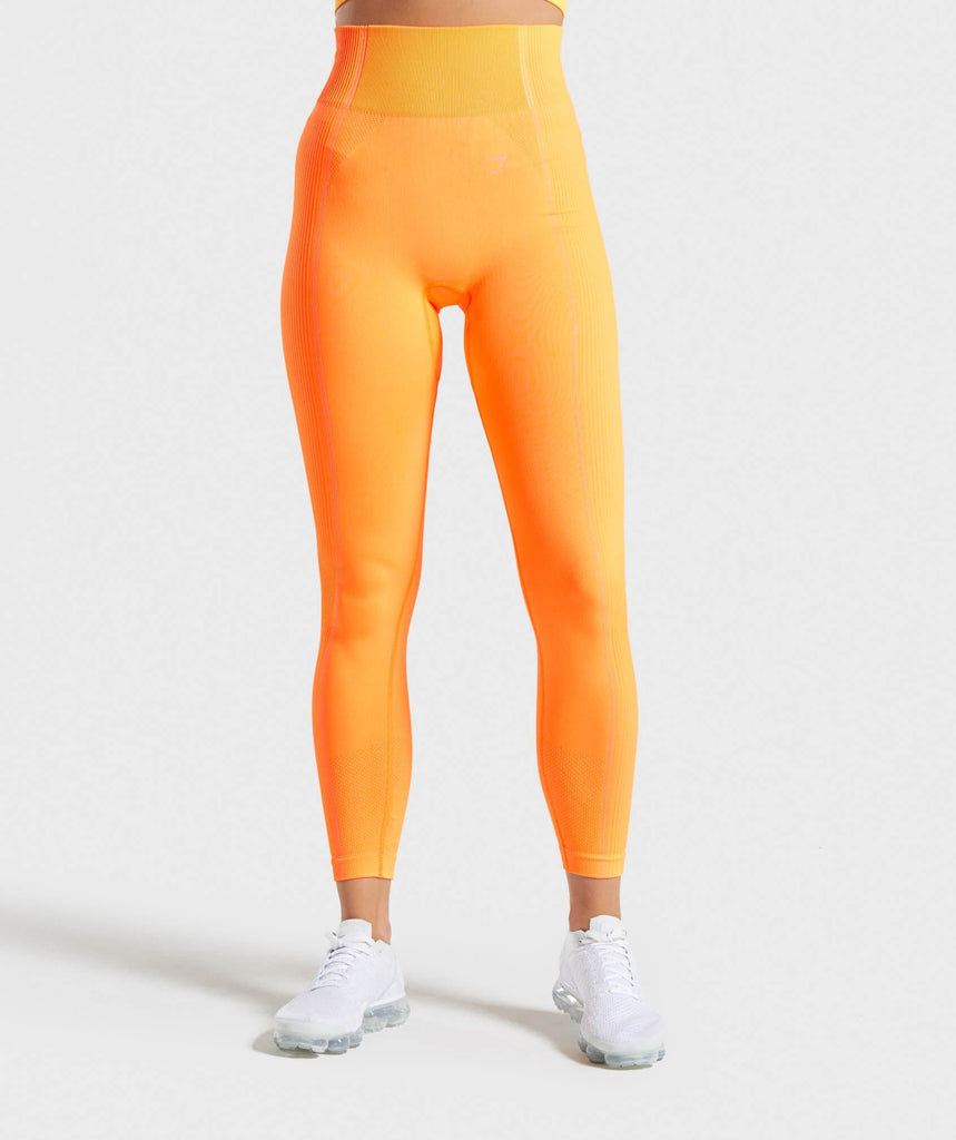 Gymshark Ultra Seamless Leggings - Orange 1