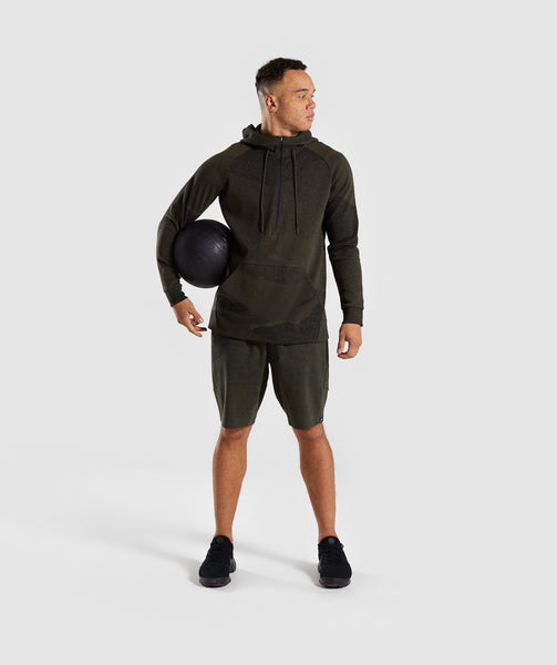 Gymshark Ultra Jacquard Pullover - Woodland Green 3