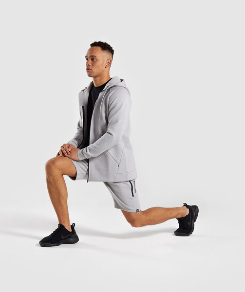 Gymshark Ultra Zip Hoodie - Light Grey Marl 4