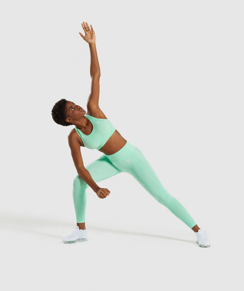Gymshark Vital Seamless Sports Bra - Green 3