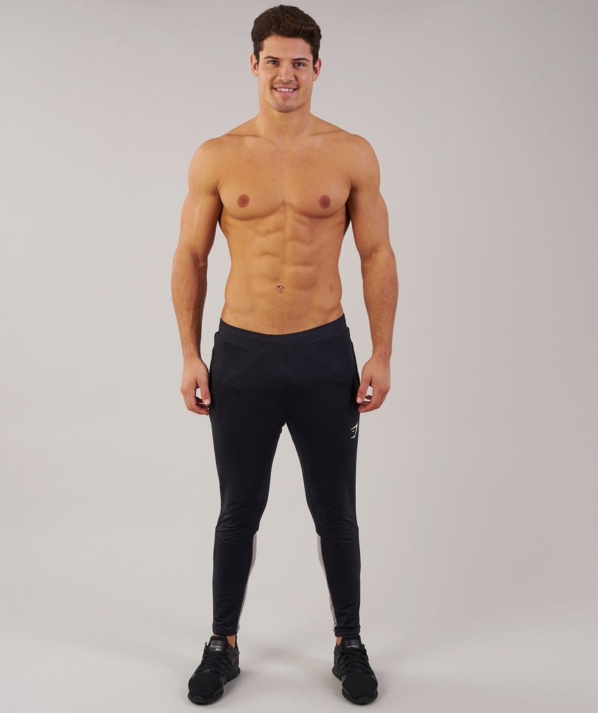 Gymshark Reactive Training Bottoms - Black/Light Grey 1