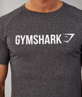 Gymshark Apollo T-Shirt - Charcoal Marl/White 12