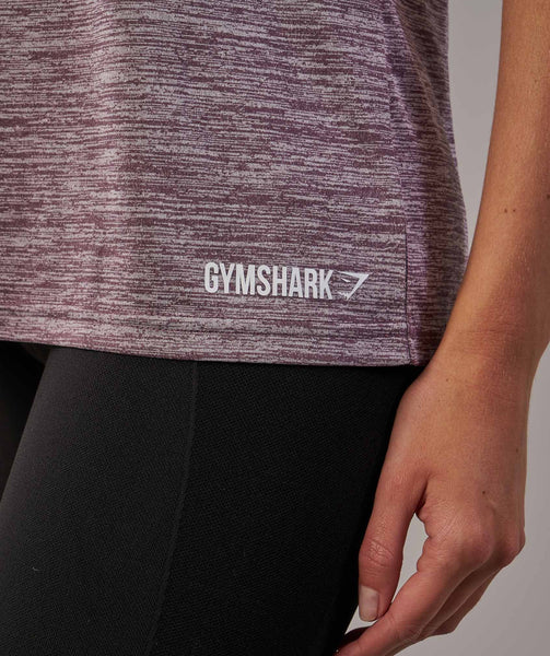 Gymshark Hooded Vest - Purple Wash Marl 4