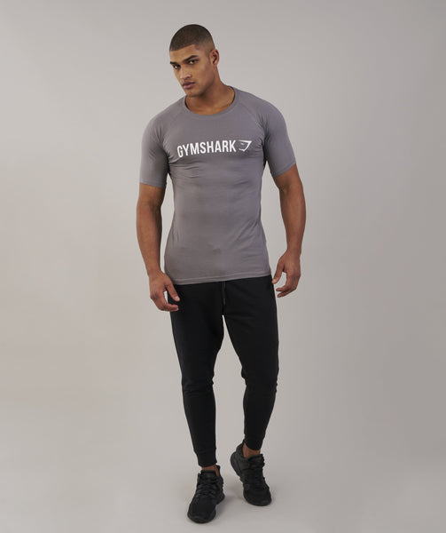 Gymshark Apollo T-Shirt - Slate/White 2