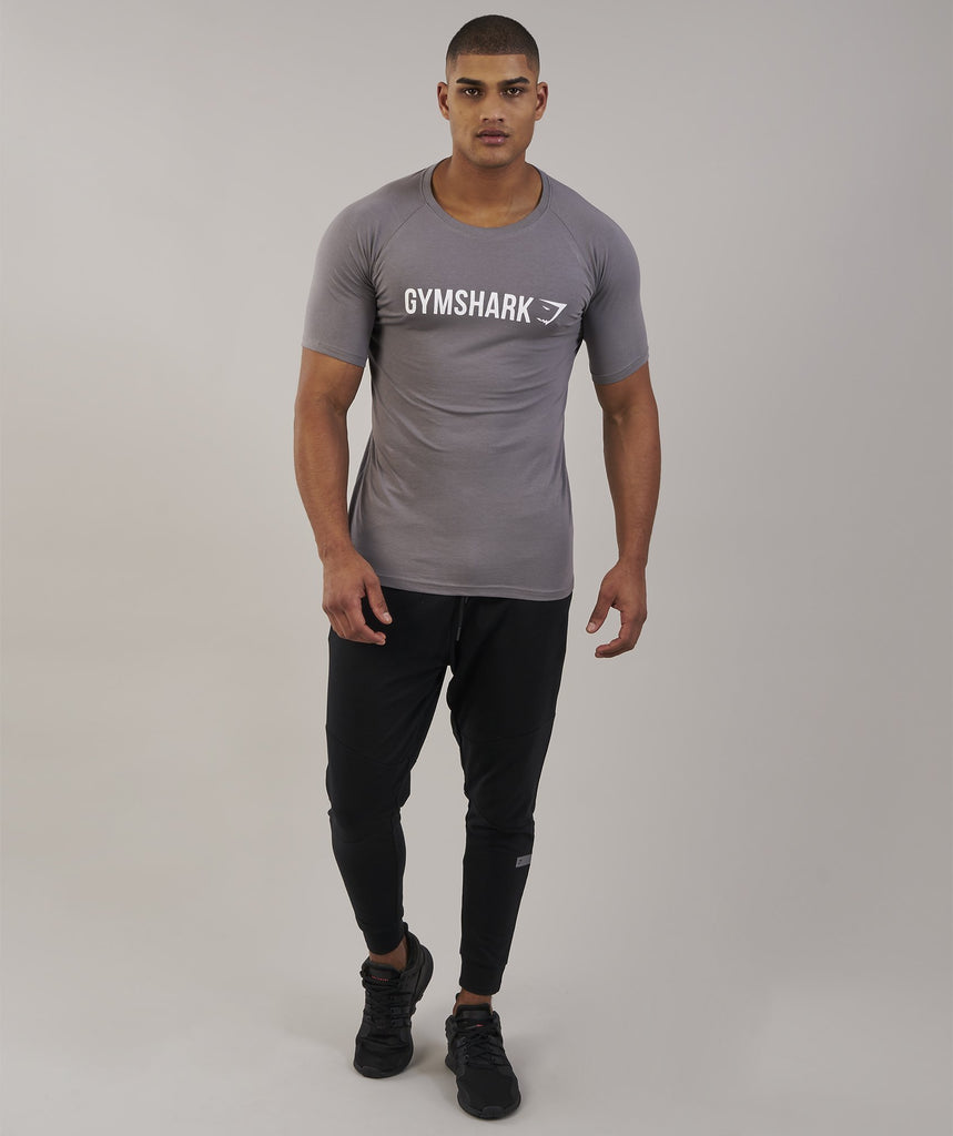 Gymshark Apollo T-Shirt - Slate/White 5
