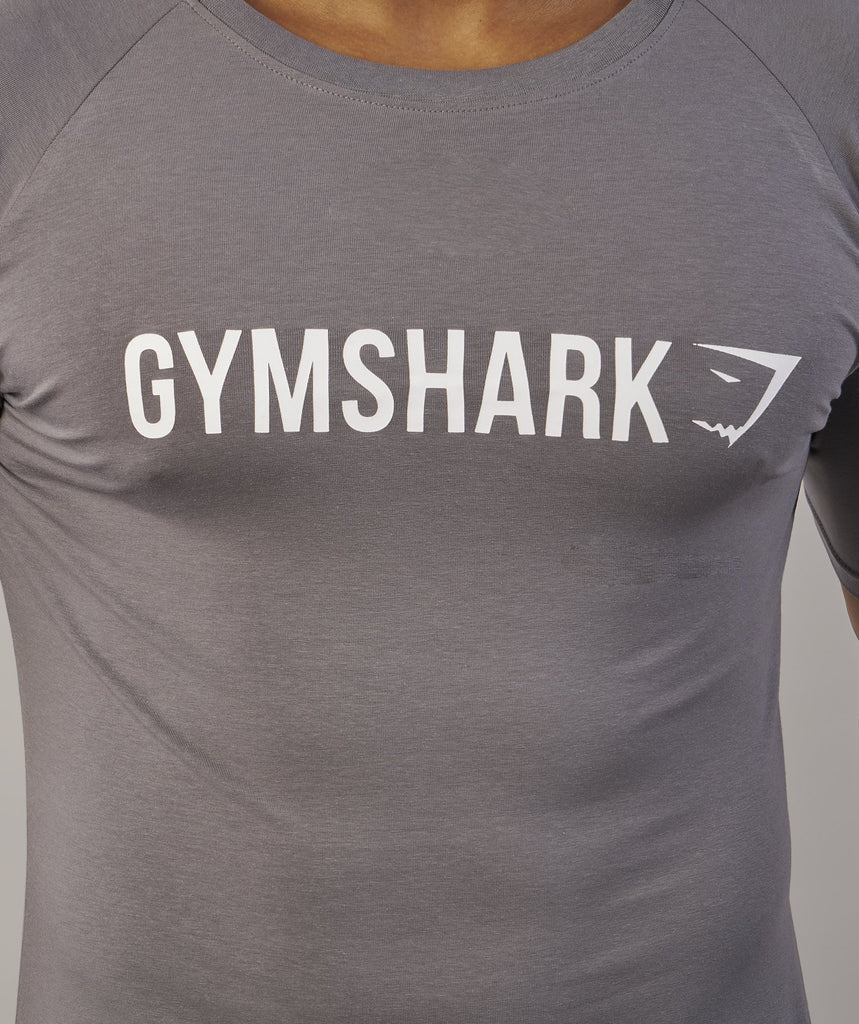 Gymshark Apollo T-Shirt - Slate/White 6