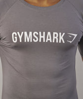 Gymshark Apollo T-Shirt - Slate/White 12