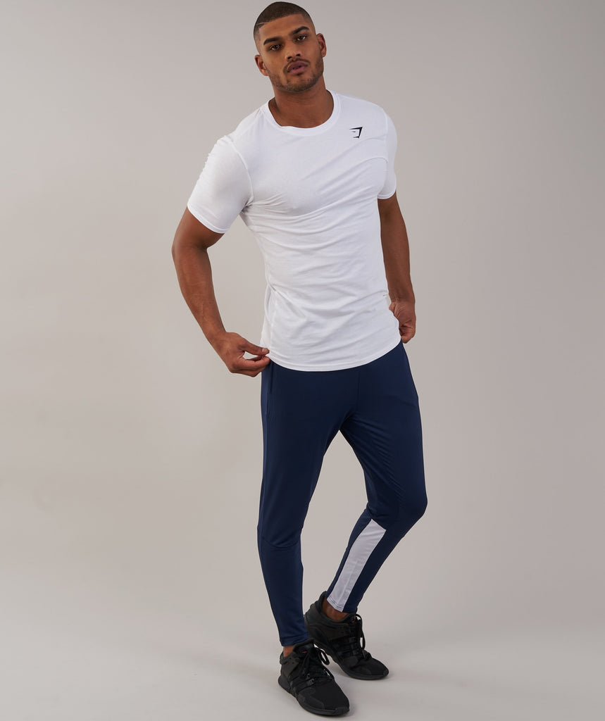 Gymshark Reactive Training Bottoms - Sapphire Blue/White 1