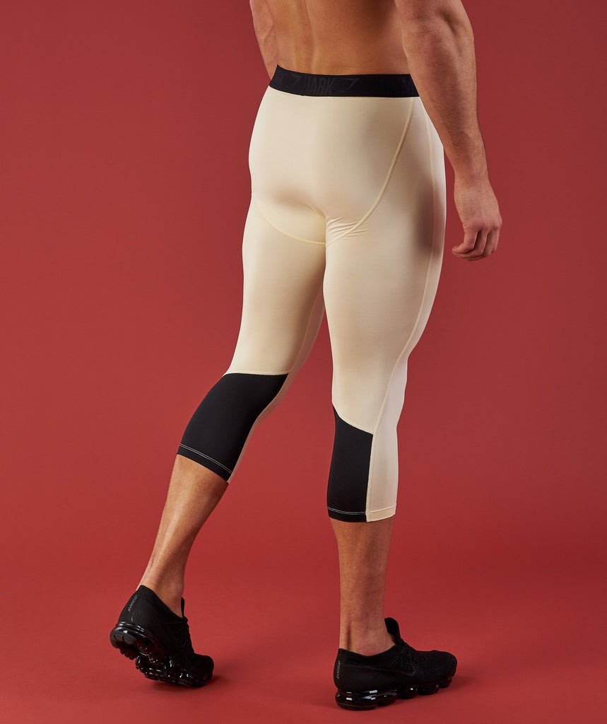 Gymshark 3/4 Leggings - Light Tan 5
