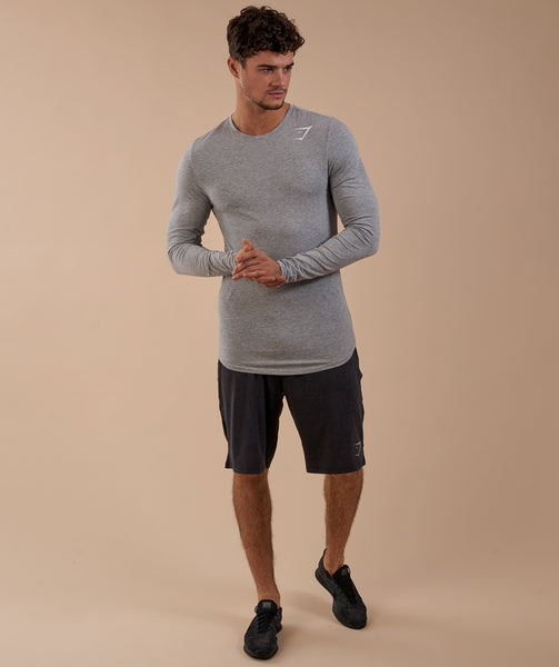 Gymshark Ark Long Sleeve T-Shirt - Light Grey Marl 3