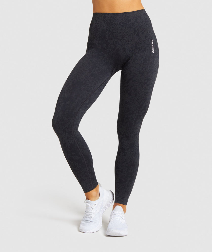 Gymshark Adapt Animal Seamless Leggings - Black 1
